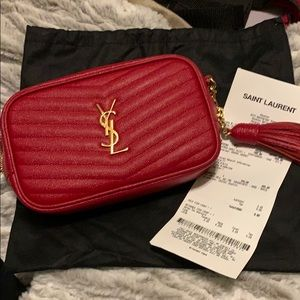 Red ysl Lou camera bag
